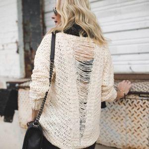 ASTR The Label Slash Back Sweater